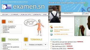 Site officiel : http://examen.sn