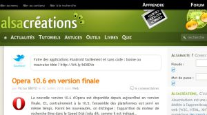Site officiel : http://www.alsacreations.com