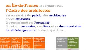 Site officiel : http://www.architectes-idf.org