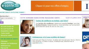 Site officiel : http://www.e-sante.be
