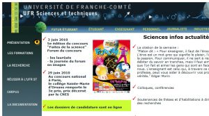 Site officiel : http://sciences.univ-fcomte.fr