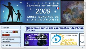Site officiel : http://www.astronomy2009.fr