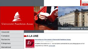 Site officiel : http://www.u-paris2.fr
