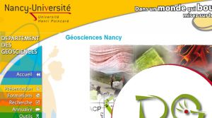 Site officiel : http://www.geologie.uhp-nancy.fr