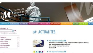 Site officiel : http://www.u-bordeaux3.fr