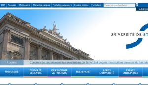 Site officiel : http://www.unistra.fr