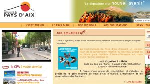 Site officiel : http://www.agglo-paysdaix.fr