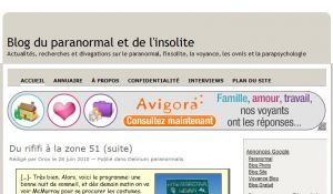 Site officiel : http://www.blogparanormal.com