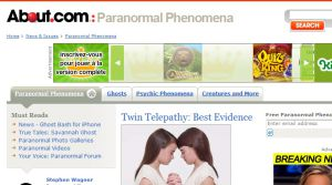 Site officiel : http://paranormal.about.com