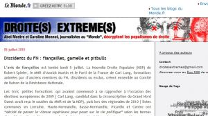 Site Officiel droites-extremes blog lemonde fr
