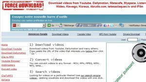 Force Download - Download, copy, save Youtube video, DailyMotion, Metacafe, Wideo, Kewego, Abrutis.com, IFilm