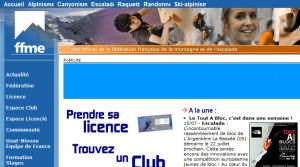 Site officiel : http://www.ffme.fr