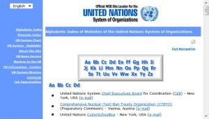 Site officiel : http://www.unsystem.org
