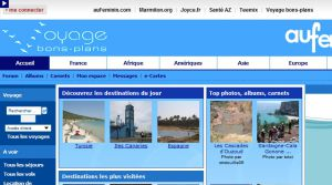 Site officiel : http://voyage-bons-plans.aufeminin.com