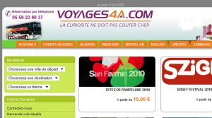 Site Officiel www voyages4a com