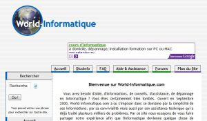 Site officiel : http://www.world-informatique.com