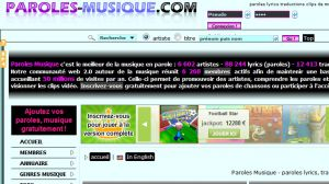 Paroles Musique - paroles lyrics, traductions, clips en parole