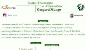 Site officiel : http://www-igm.univ-mlv.fr
