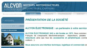 Site officiel : http://www.alcyonelectronique.fr