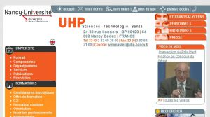 Site officiel : http://www.uhp-nancy.fr