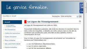Site officiel : http://www.laligue-formation.fr