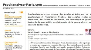 Site officiel : http://www.psychanalyse-paris.com
