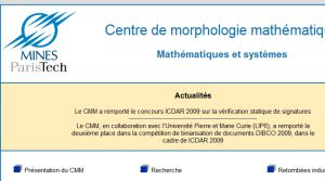 Site Officiel cmm ensmp fr