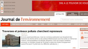 Site officiel : http://www.journaldelenvironnement.net