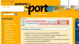 Site officiel : http://www.acteursdusport.fr