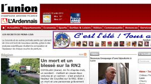 Site officiel : http://www.lunion.presse.fr