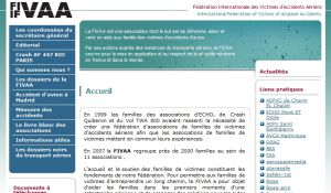 FIVAA - Fédération Internationale des Victimes d'Accidents Aériens - Accueil